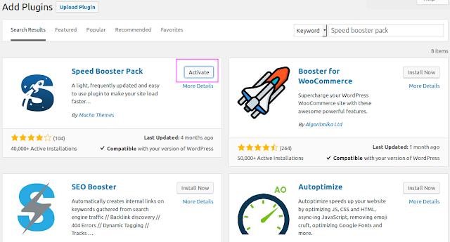 Cara Mempercepat WordPress Dengan Speed Booster Pack