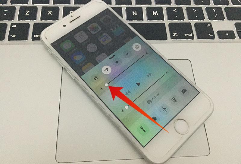 adjust brightness on iphone