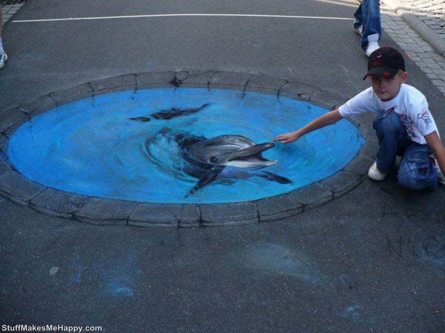 3. Stroke the dolphin