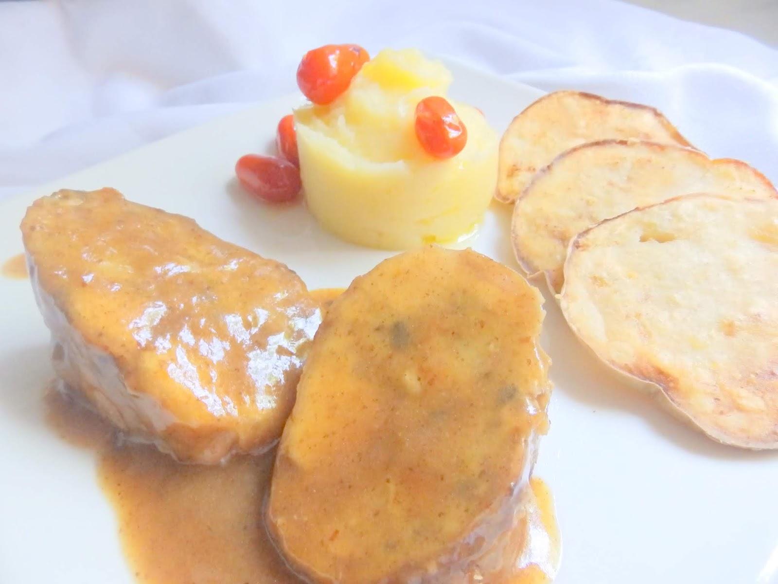 Patata Porner cuina de la mare: conill farcit de marisc amb puré de patata