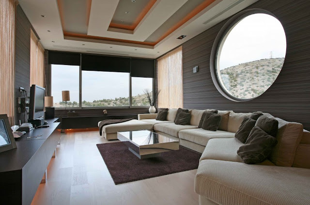 Modern villa, Greece, living room