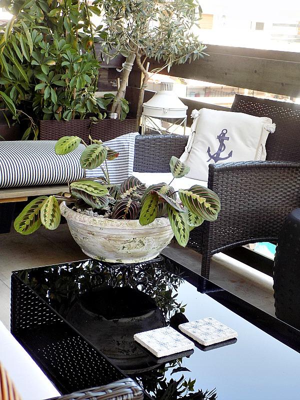 Faux aged plastic, faux terra cotta flower pots
