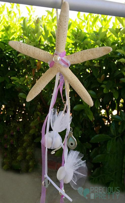 Christening bombonieres with starfish B045