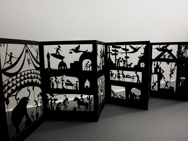 Troquelados en el Museo del Origami