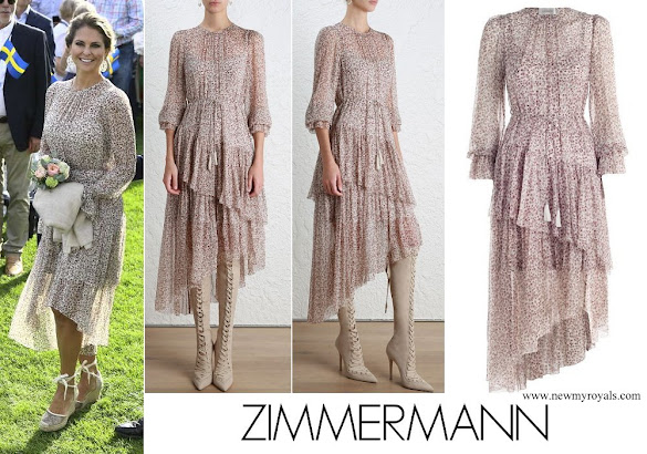 Princess Madeleine wore Zimmermann Cavalier Tier Dress