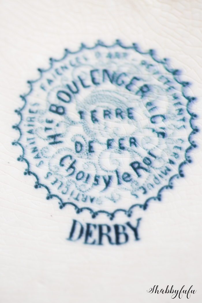 french ironstone backstamp