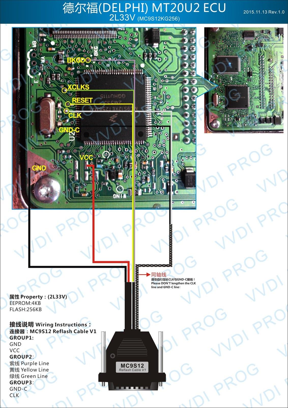 Delphi Ecu Wiring Diagram Free For You Pri Xhorse Vvdi Prog To Ecus Mcus Updating Corolla 4age Pinout