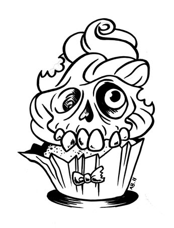 Art and News from Allison Bamcat: Zombie cupcake!