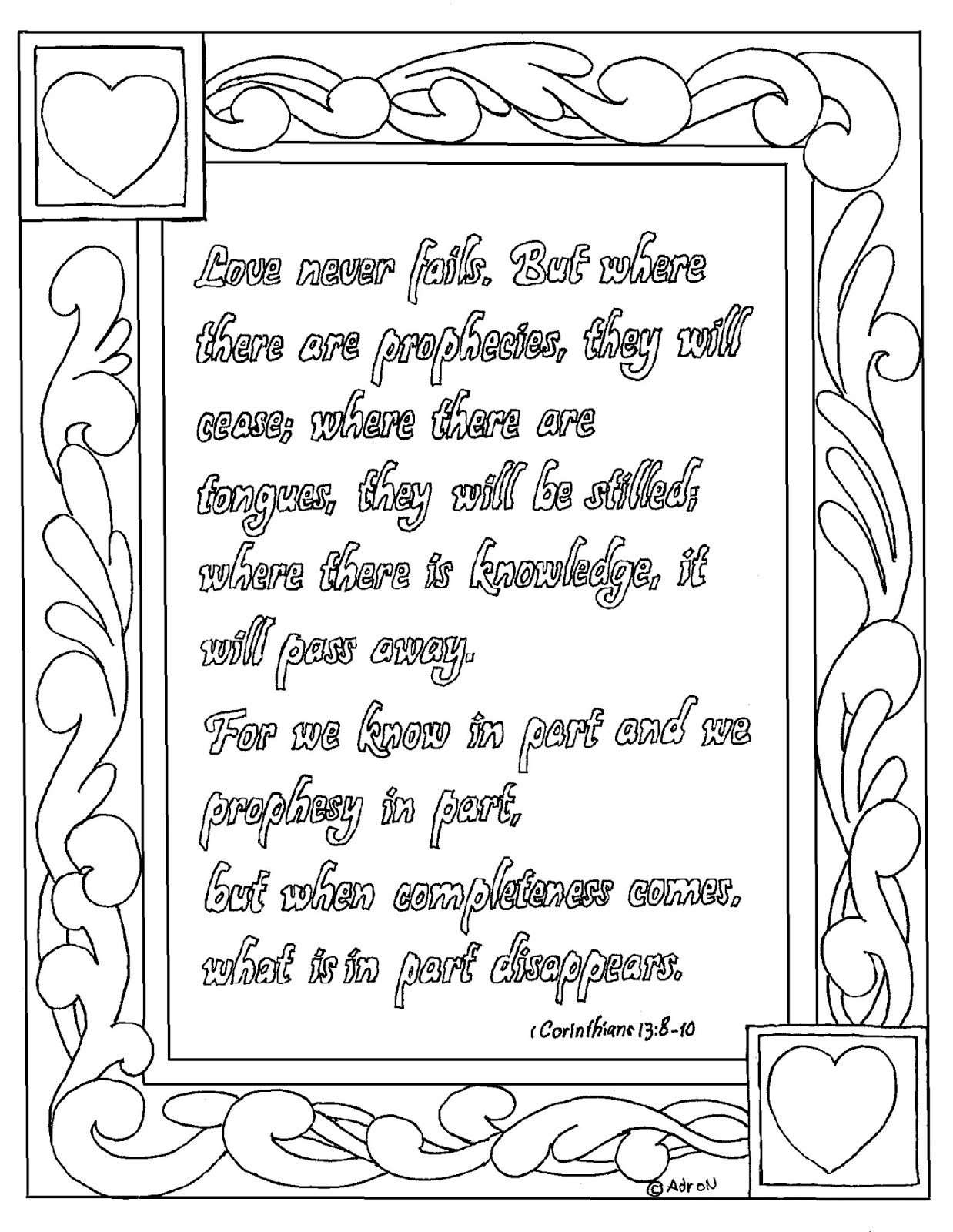 It is a picture of Amazing 1 Corinthians 13 Coloring Page
