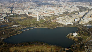 Aerial view of the Tidal Basin by Mariordo