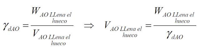 fórmula de densidades