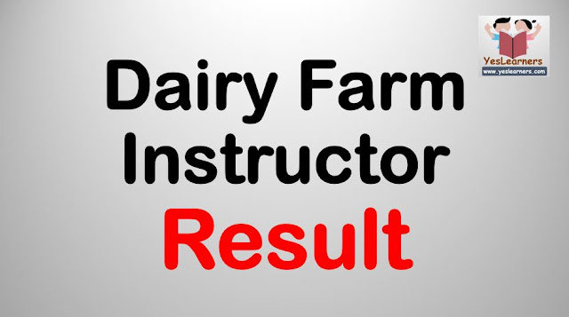 Dairy Farm Instructor - Result