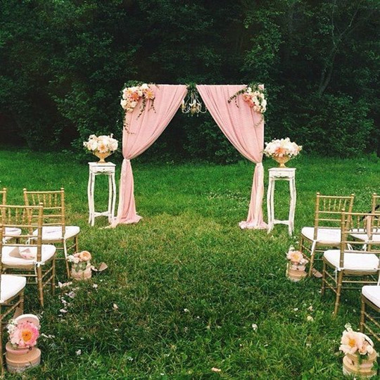 fall vintage outdoor wedding ceremony decorations