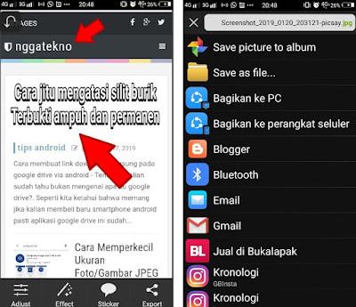 Cara Menambahkan Tanda Panah Pada Gambar/Foto Dengan Android