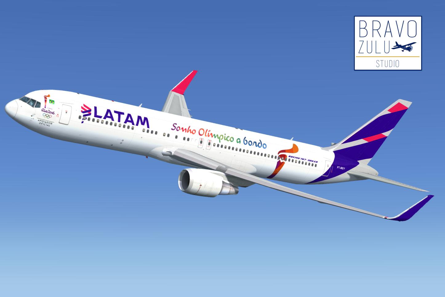 Boeing 767-300ER LATAM Brasil + Chile + Argentina + RIO 2016 | Bravo