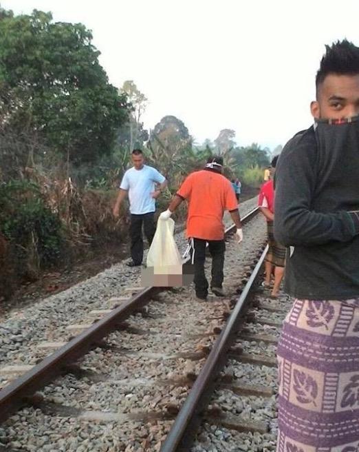 Tidur Atas Landasan, Lelaki Hancur Digilis Keretapi