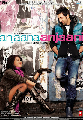 Poster Of Bollywood Movie Anjaana Anjaani (2010) 300MB Compressed Small Size Pc Movie Free Download worldfree4u.com