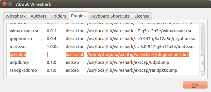 How to install Wireshark 2 3 on Ubuntu 16 04 with Iperf dissector