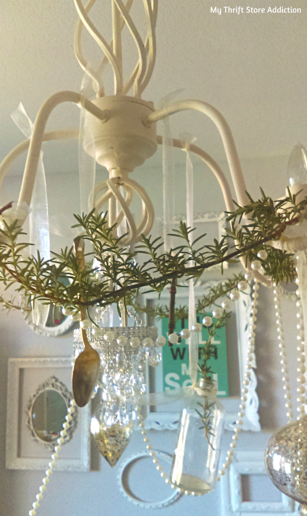 holiday chandy garden greenery and whimsical swag