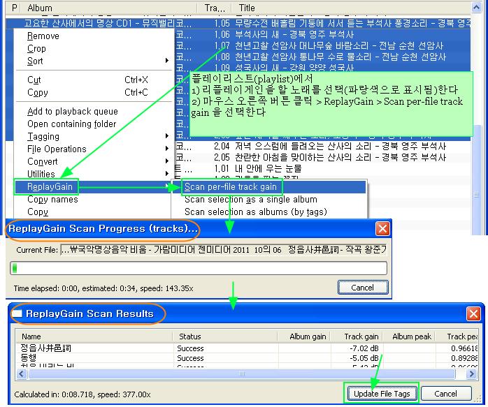 푸바 Foobar2000 사용법 - 리플레이게인(Replay Gain)의 뜻, 특징, 설정 및 사용방법
