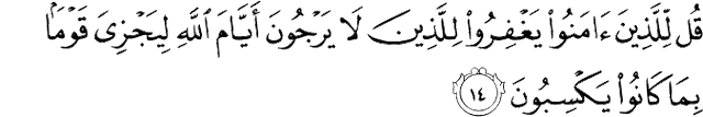 Surat Al-Jatsiyah ayat 14
