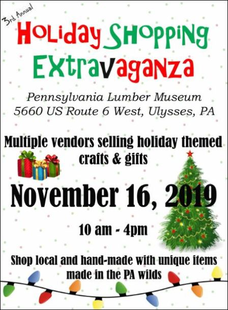 "11-16 Lumber Museum ""3rd Annual Holiday Shopping Extravaganza"""