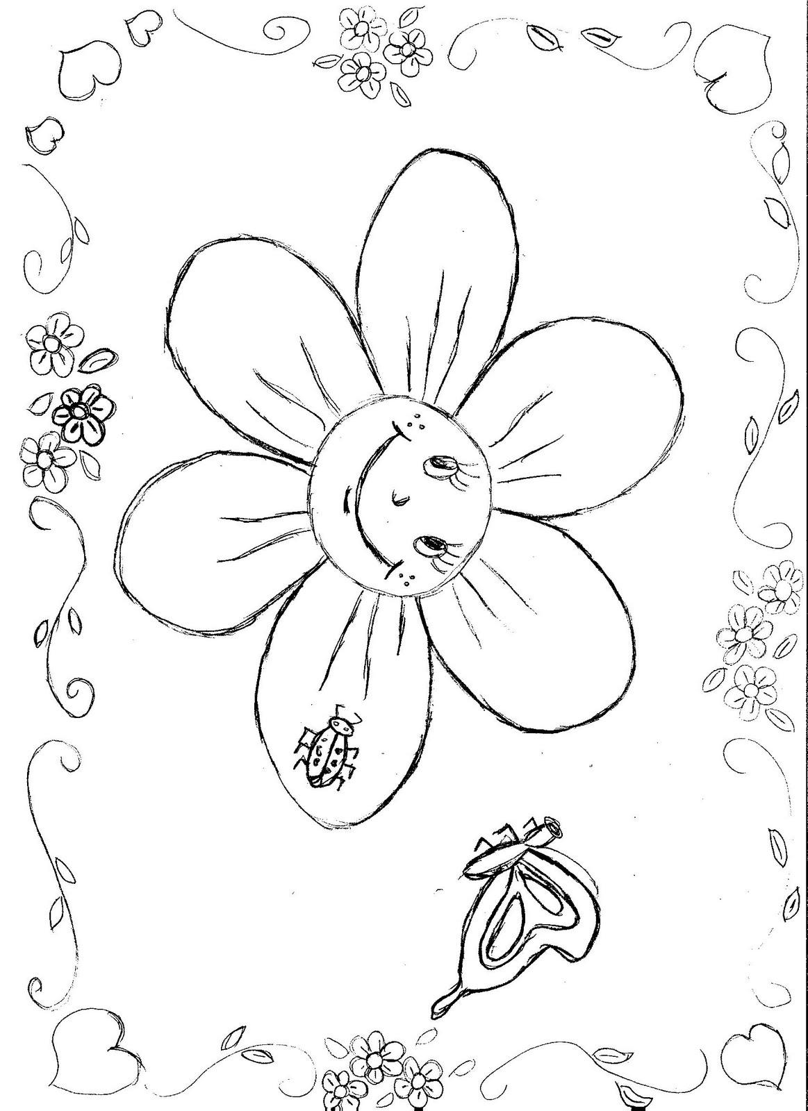 Estação Da Primavera Flores Passaros Borboletas Desenhos