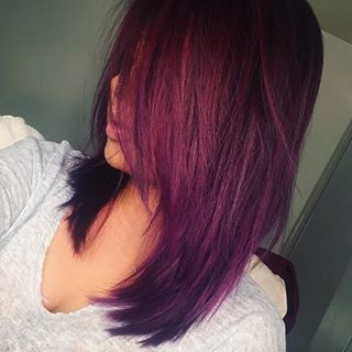 hair styled stunning burgundy hairstyles omg 7983