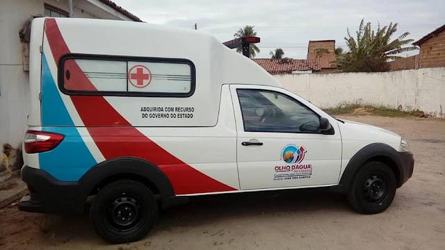 Prefeitura de Olho D'Água do Casado recebe nova ambulância do Governo de Alagoas