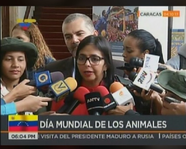VTV celebra el día del Animal con imagen de Delcy Rodríguez