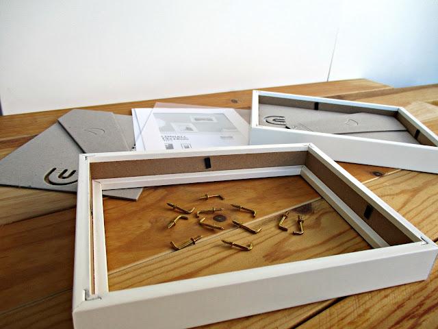DIY Haz una bonita caja de luz con unos marcos de Ikea