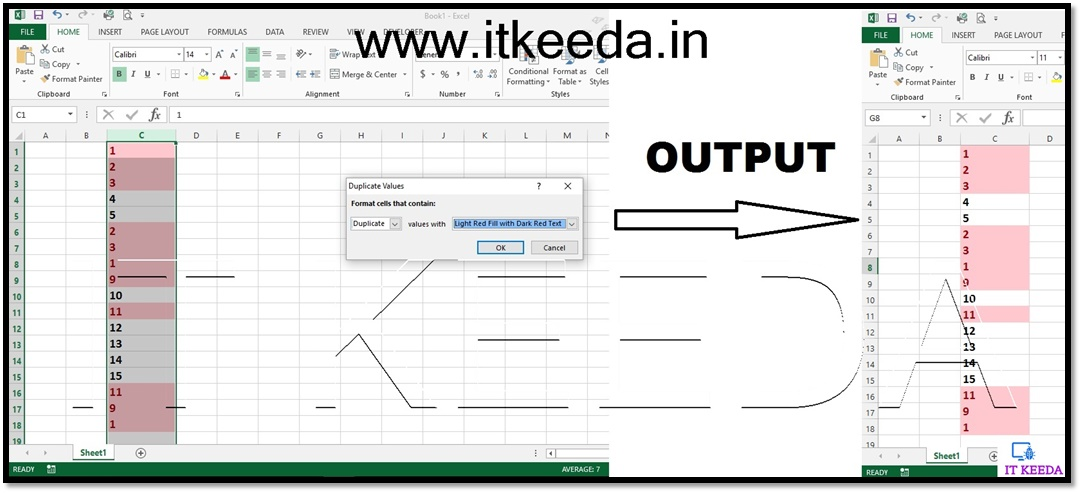 How to Find Duplicate or Unique Value in Excel with Conditional Formatting 4
