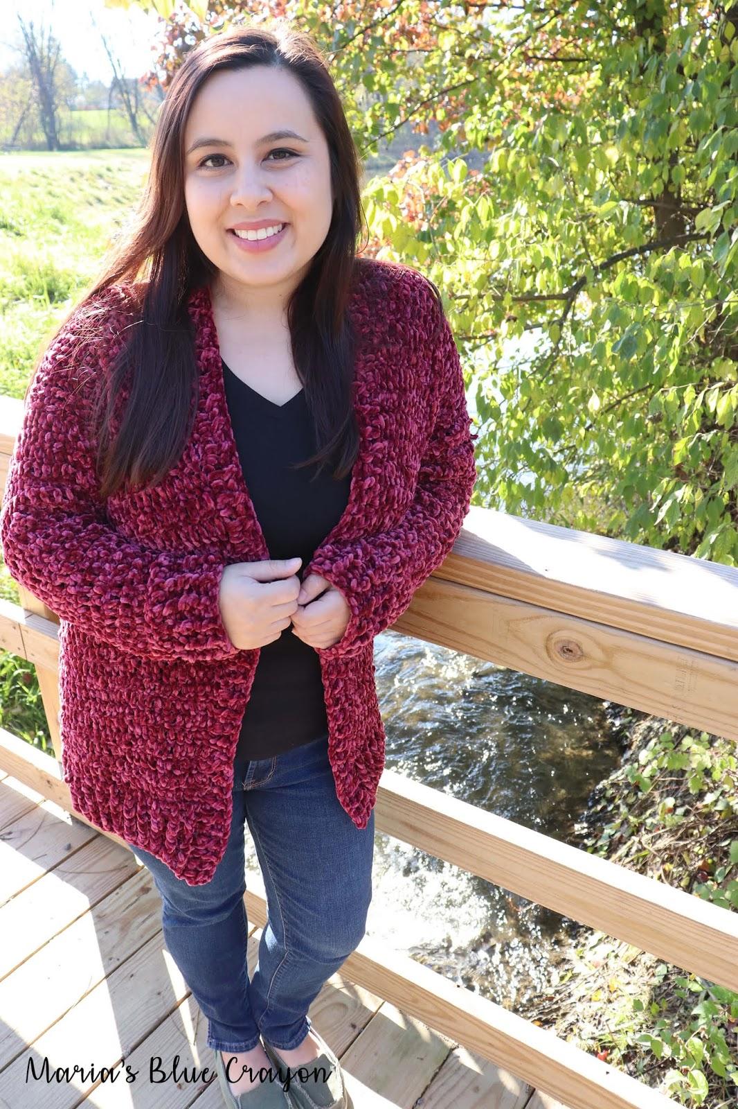 aad5eaf06 Crochet Velvet Cardigan Sweater – Free Pattern