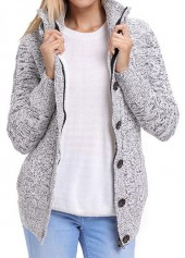 Hooded Collar Long Sleeve Pocket Coat