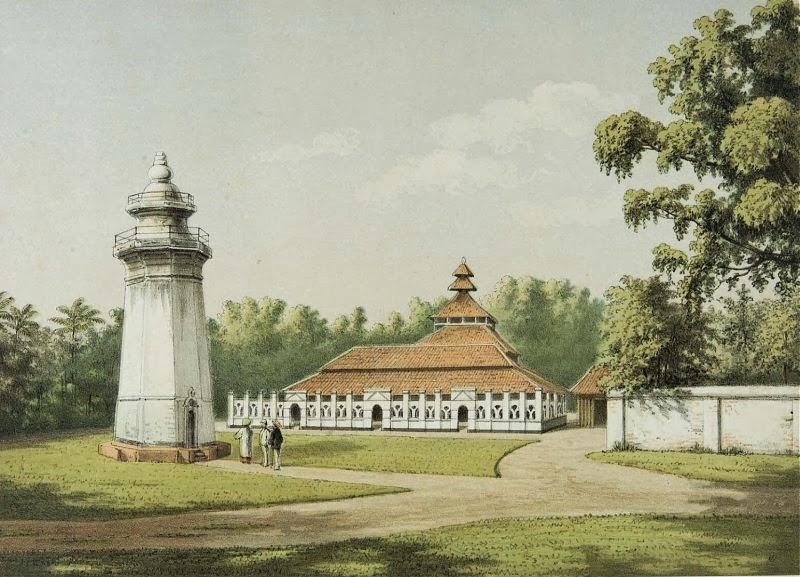 Gambar Masjid Banten Lama, Desa Karangantu Serang Banten Indonesia