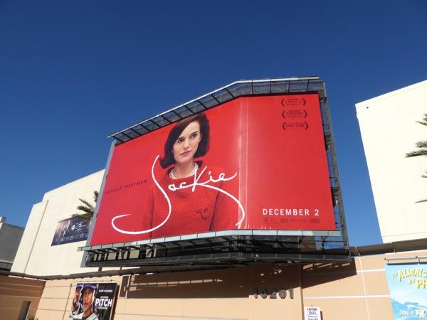 Jackie movie billboard