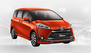 Harga Toyota Sienta di Pontianak Warna Orange Metallic