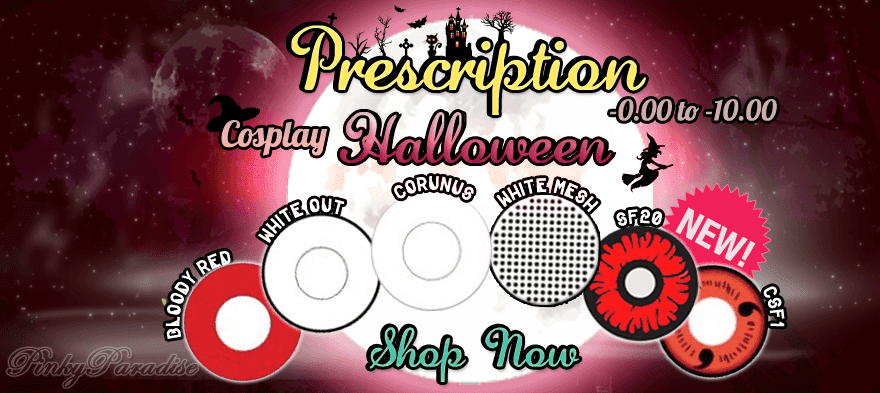 Prescription Halloween Cosplay Contact Lenses
