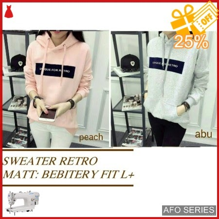 AFO173 Model Fashion Sweater Retro Modis Murah BMGShop