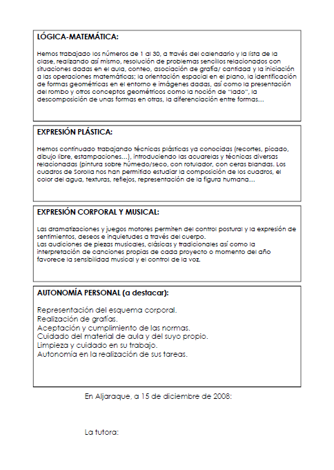 AVENTURA DIMINUTA: BOLETINES E INFORMES DE EVALUACIÓN