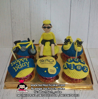 Cupcake Hotel Yello Surabaya Tema Bersepeda