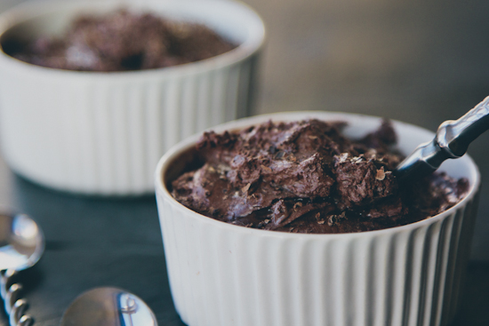two-ingredient chocolate mousse