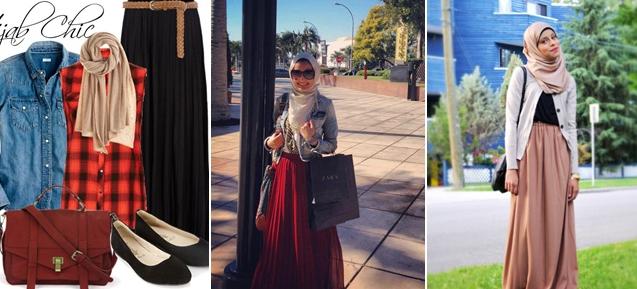 Tops two pieces, hijab, dan Sepatu kulit