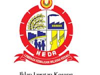 Jawatan Kosong Lembaga Kemajuan Wilayah Kedah (KEDA) 1 Oktober 2017
