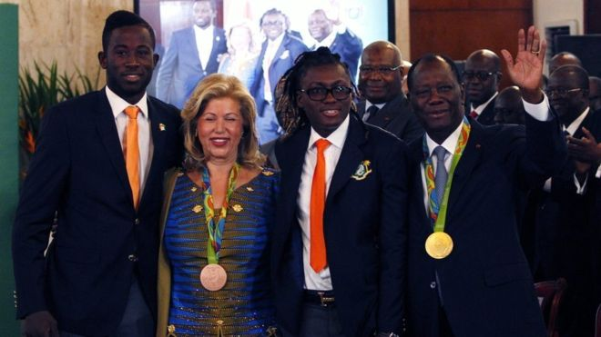 Ivory Coast Olympic medallists Cisse and Gbagbi given houses
