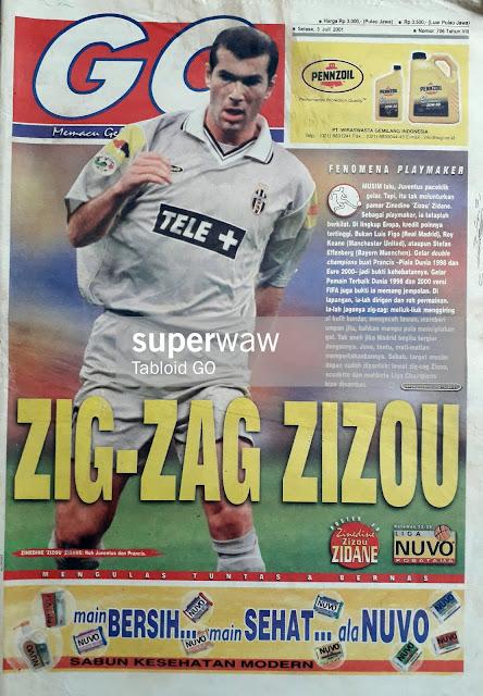 ZIG-ZAG ZIZOU ZIDANE OF JUVENTUS