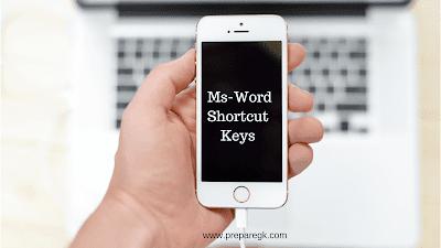 Ms word shortcut keys for exams
