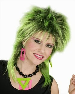 Woman wearing 80s Neon Jewellery