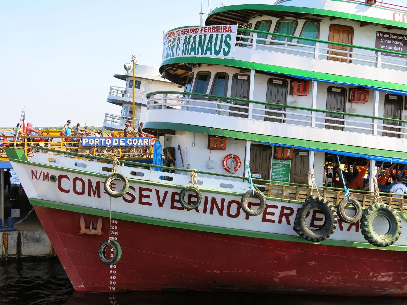 Navio Comandante Severino Ferreira, minha casa no Rio Solimões entre Tefé e Manaus.