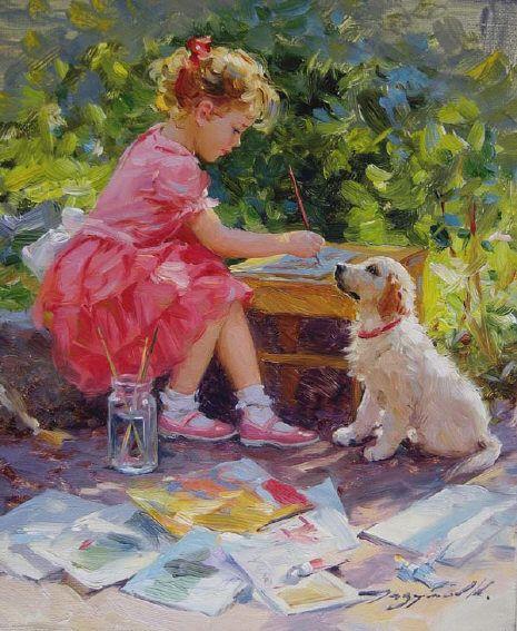 Konstantin Razumov childhood painting